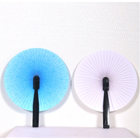 塑料花纸圆扇