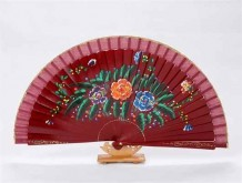 Spanish Hand-painted Wooden Fan