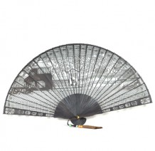 Suzhou Garden Ebony Small Fan