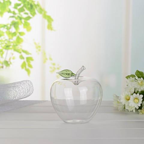 創意玻璃蘋果存錢罐帶鑽 儲錢罐 節慶贈送禮品