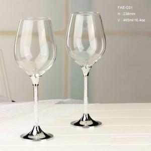 新款高脚水钻鸡尾酒杯套送礼实用型商务礼品摆件装饰品