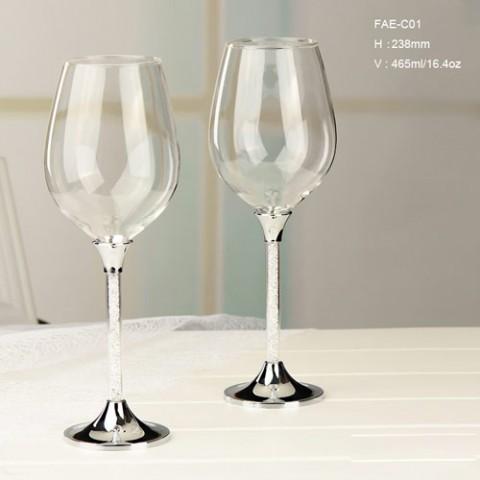 新款高腳水鑽雞尾酒杯套送禮實用型商務禮品擺件裝飾品