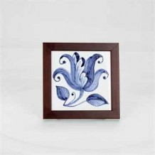 Hand Painted Azulejo (Lily)