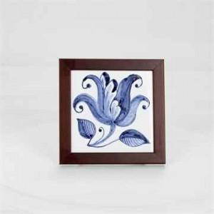 手绘瓷砖方壁画(小) - 白合花