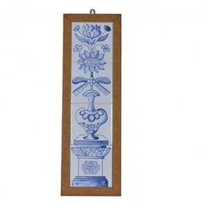 手绘瓷砖长壁画 - 多瓣花
