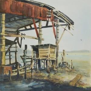 Tendo sido próspero - Pintura no estaleiro de Povoação de Lei Chi Vun em Coloane 1