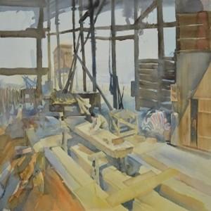 Com saudades aos bons tempos do passado - Pintura no estaleiro de Povoação de Lei Chi Vun em Coloane 2