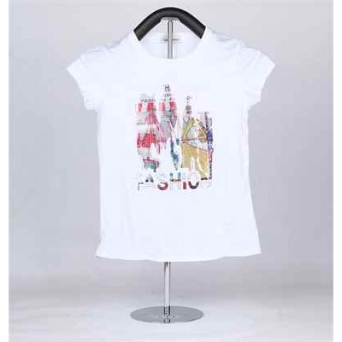 Round neck, short sleeved women's t-shirt ko-205