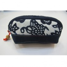 Clutch Bag with White Motif