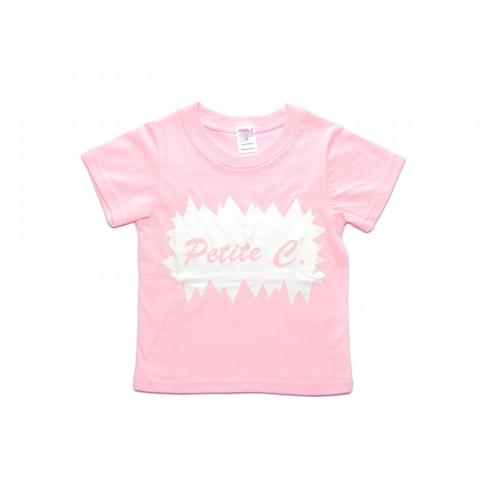 粉红全棉印花T恤