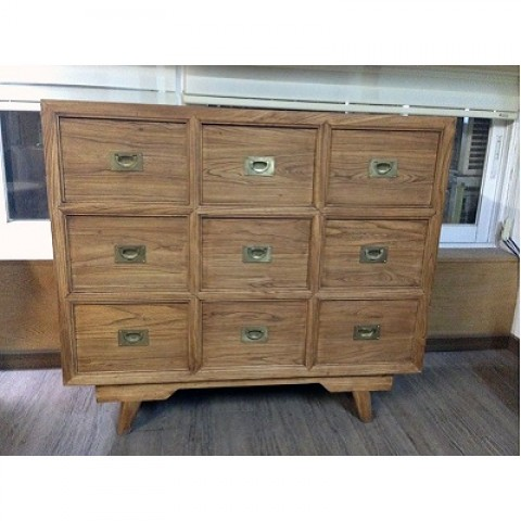Elm Wood Cabinet with Nine Compartments 1a