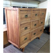 Elm Wood Cabinet with Nine Compartments 1b