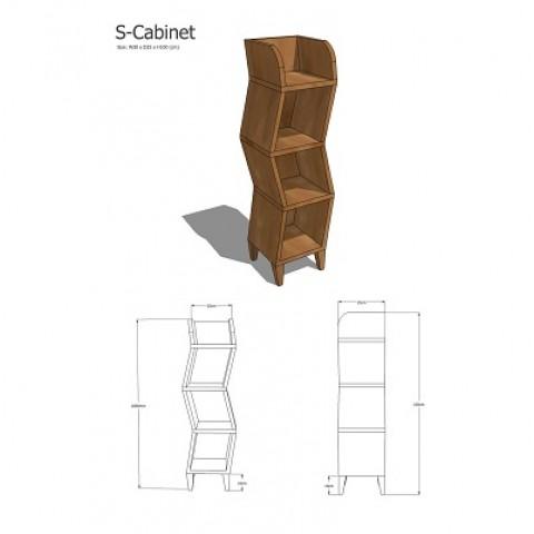 Elm Wood Decoration Cabinet 1