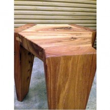 Elm Wood Hexagonal Stool 1b