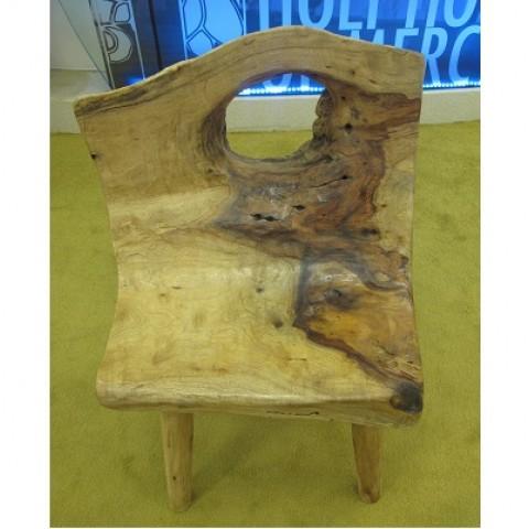 Wooden Log Chair