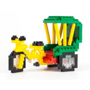 Small plastic building blocks - Tricycles