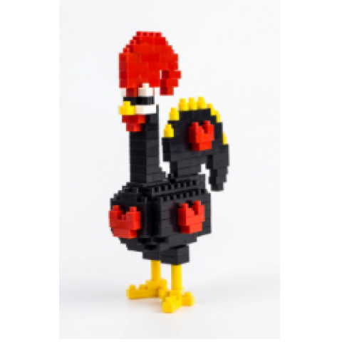 Small plastic building blocks - Rooster of Barcelos
