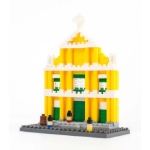 以玫瑰圣母堂为主题的积木玩具