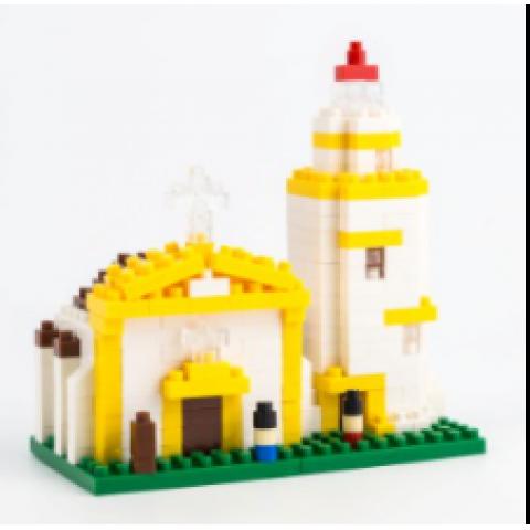 以東望洋燈塔爲主題的積木玩具