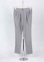灰色針織哈倫褲