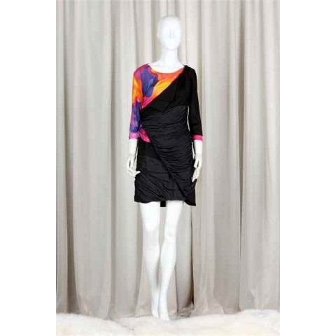 Rainbow Coloured Top with Black Coloured Skirt