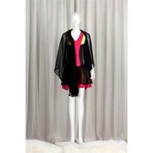 Black Chiffon Coloured Jumpsuit