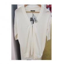 白色短袖罩衫