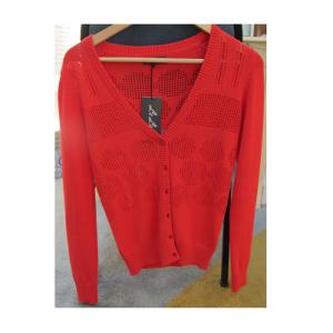 橙紅通花罩衫