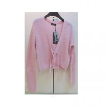 粉紅綁帶罩衫