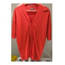 紅色短袖罩衫