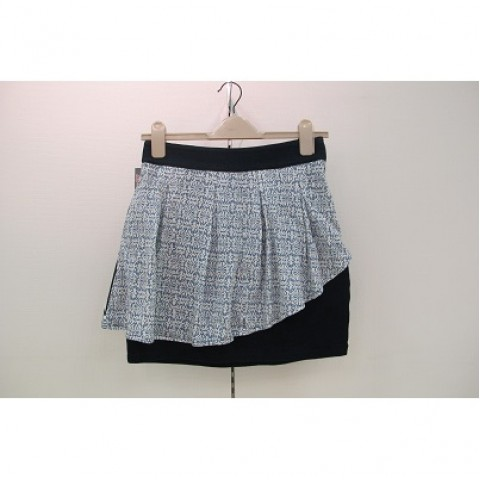 An Asymmetric Pepuim Skirt