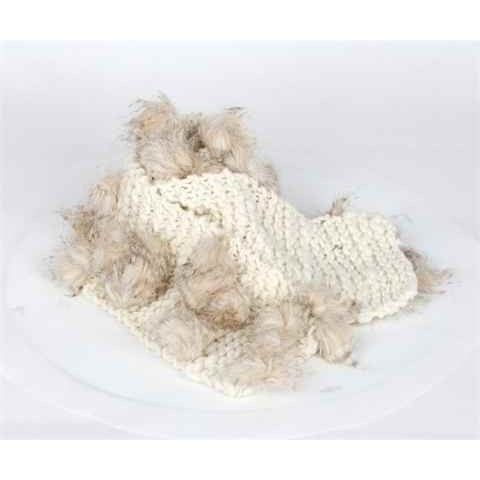 Beige Coloured Woolen Scarf