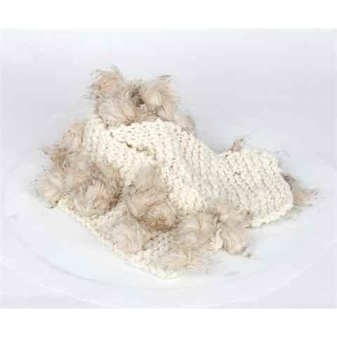 Lenço de Lã de Cor Beige