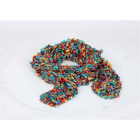 Rainbow Coloured Italian Knitted Scarf