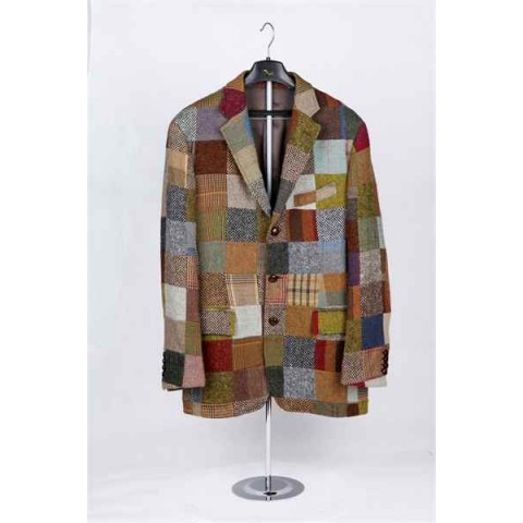 Mixed Color Check Jacket