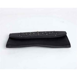 Black Wallet with Rivets