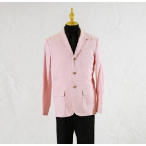 粉紅色男西裝褸