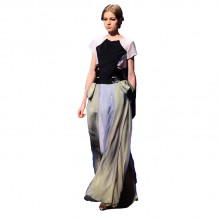 Top and long skirt