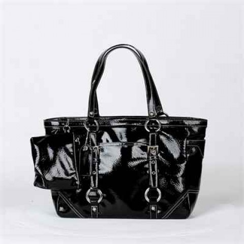 黑色漆皮手袋