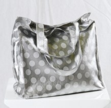 Silver Polka Dot Handbag