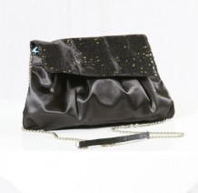 Black Sequin Evening Handbag