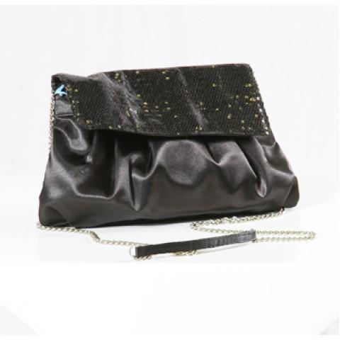 Black Sequin Evening Handbag