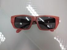 木制眼镜(深啡长方形黑色镜片)