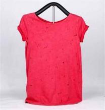 T-shirt de Malha de Senhora de Manga Curta (Vermelho)