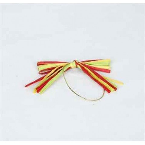 Ribbon Accessories (Yellow, Red & Green - Paper Ribbon)
