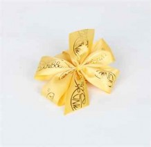 Ribbon Accessories (Yellow Ribbon with Gold Color of the Company Logo)