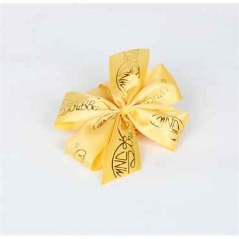 包装丝带 (黄色丝带, 金色公司logo)