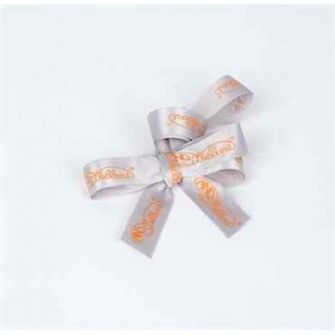 包装丝带 (灰色丝带, 橙色公司logo)