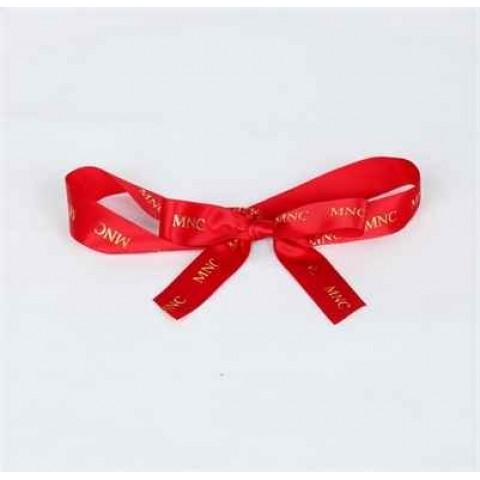 包裝絲帶 (紅色絲帶, 金色公司logo)