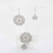 Ring + Earrings Set (Doily)